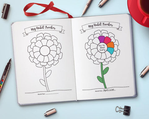 Flower Habit Tracker Printable