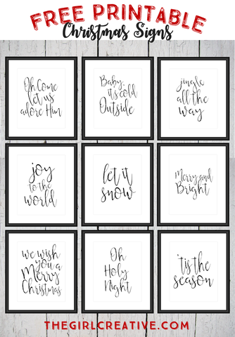 9 Free Christmas Wall Art Printables- If you're looking for last minute Christmas decor, greeting cards, or gift tags, don't bother with the stores or online shopping. Instead, check out these 25 free Christmas printables! | Christmas wall art printables, printable gift tags, holiday printables, kids activities, #freePrintables #Christmas #DigitalDownloadShop