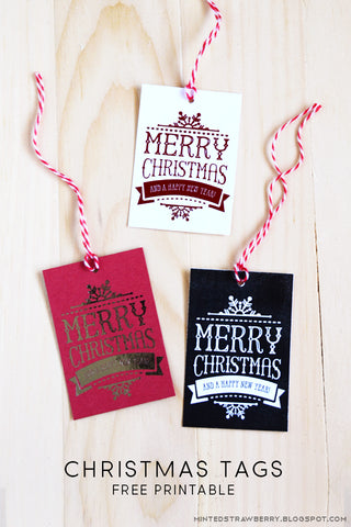 Free Christmas Gift Tag Printables- If you're looking for last minute Christmas decor, greeting cards, or gift tags, don't bother with the stores or online shopping. Instead, check out these 25 free Christmas printables! | Christmas wall art printables, printable gift tags, holiday printables, kids activities, #freePrintables #Christmas #DigitalDownloadShop