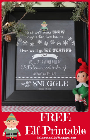 Free Elf Movie Quote Wall Art Printable- If you're looking for last minute Christmas decor, greeting cards, or gift tags, don't bother with the stores or online shopping. Instead, check out these 25 free Christmas printables! | Christmas wall art printables, printable gift tags, holiday printables, kids activities, #freePrintables #Christmas #DigitalDownloadShop