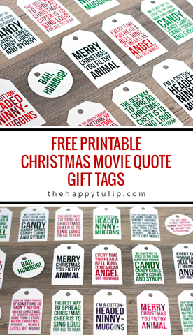 Free Christmas Movie Quote Gift Tag Printables- If you're looking for last minute Christmas decor, greeting cards, or gift tags, don't bother with the stores or online shopping. Instead, check out these 25 free Christmas printables! | Christmas wall art printables, printable gift tags, holiday printables, kids activities, #freePrintables #Christmas #DigitalDownloadShop