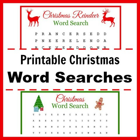 Free Printable Christmas Word Searches- If you're looking for last minute Christmas decor, greeting cards, or gift tags, don't bother with the stores or online shopping. Instead, check out these 25 free Christmas printables! | Christmas wall art printables, printable gift tags, holiday printables, kids activities, #freePrintables #Christmas #DigitalDownloadShop