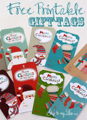Free Christmas Gift Tags Printables- If you're looking for last minute Christmas decor, greeting cards, or gift tags, don't bother with the stores or online shopping. Instead, check out these 25 free Christmas printables! | Christmas wall art printables, printable gift tags, holiday printables, kids activities, #freePrintables #Christmas #DigitalDownloadShop