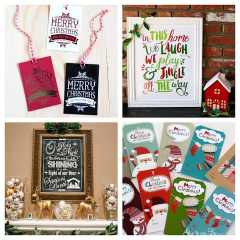 25 Free Christmas Printables- If you're looking for last minute Christmas decor, greeting cards, or gift tags, don't bother with the stores or online shopping. Instead, check out these 25 free Christmas printables! | Christmas wall art printables, printable gift tags, holiday printables, kids activities, #freePrintables #Christmas #DigitalDownloadShop