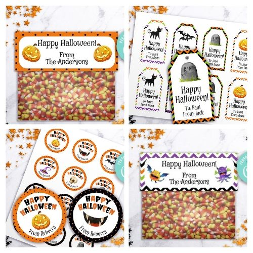 Editable Halloween Printables- Have the best Halloween party ever with these editable and printable Halloween tags and treat bag toppers! | #HalloweenParty #favorTags #treatBagTopper #Halloween #DigitalDownloadShop