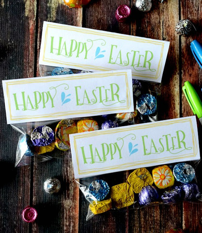 Free Printable Happy Easter Treat Bag Toppers- Make your Easter favors and candy gifts look egg-stra cute this year with some of these adorable free printable Easter treat bag toppers! | Easter party favors, Easter printable, #freePrintables #printable #Easter #treatBags #DigitalDownloadShop