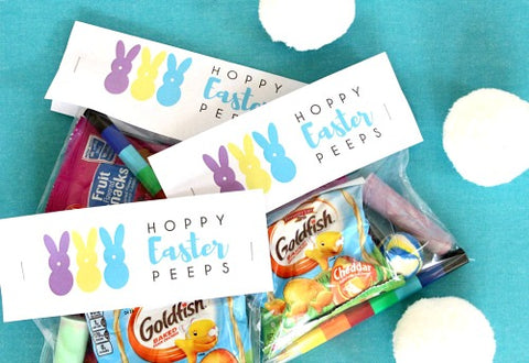 Hoppy Easter Peeps Free Printable Easter Treat Bag Topper- Make your Easter favors and candy gifts look egg-stra cute this year with some of these adorable free printable Easter treat bag toppers! | Easter party favors, Easter printable, #freePrintables #printable #Easter #treatBags #DigitalDownloadShop