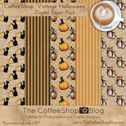 Free Vintage Halloween Digital Papers- If you're looking for free Halloween digital papers to use in your next project, you have to look at these! Some are licensed for commercial use! | free digital paper, Halloween backgrounds, Halloween patterns, #freePrintables #digitalPaper #Halloween #backgrounds #scrapbooking #graphicDesign #digitalPapers #DigitalDownloadShop