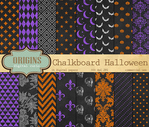 9 Free Halloween Digital Papers Digital Download Shop The Digital Download Shop