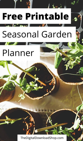 Use this free printable seasonal garden planner to help you plan out what to plant when! It's perfect for both flower and vegetable gardens! | garden planner, planting planner, #freePrintables #gardenPlanner #printable #gardening #DigitalDownloadShop