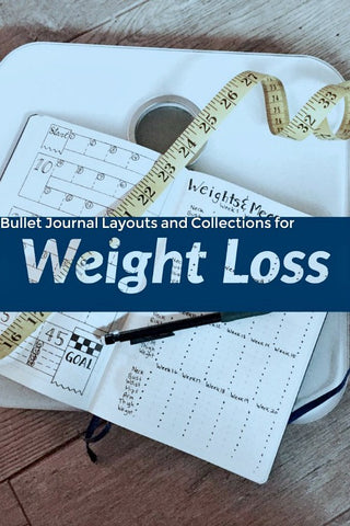 15 Bullet Journal Pages for Weight Loss- If you want to lose weight or just get healthy, your bullet journal can help! | lose weight, planner printables, bullet journal page ideas, bullet journal spread inspiration, #bulletJournal #fitness #DigitalDownloadShop