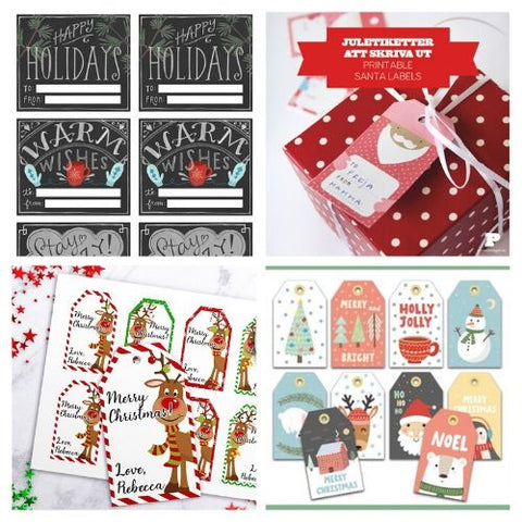 24 Printable Holiday Gift Tags- If you want the perfect finishing touch for your holiday gift wrapping, you need to check out these printable Christmas tags! There are so many pretty DIY holiday tags to choose from! | #freePrintables #freePrintable #Christmas #giftTags #DigitalDownloadShop