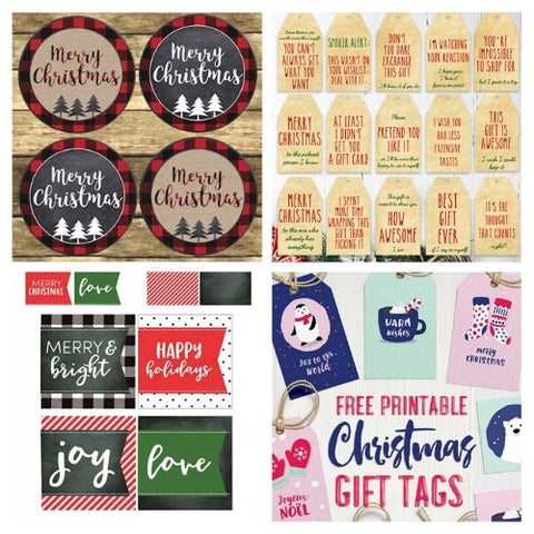 Free Printable Christmas Gift Tags- If you want the perfect finishing touch for your holiday gift wrapping, you need to check out these printable Christmas tags! There are so many pretty DIY holiday tags to choose from! | #freePrintables #freePrintable #Christmas #giftTags #DigitalDownloadShop