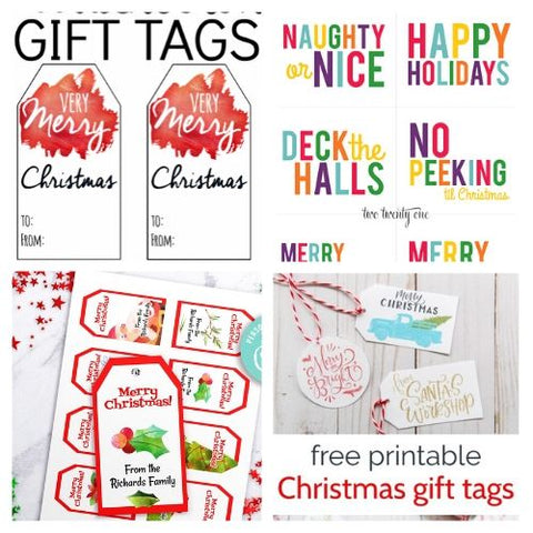24 DIY Christmas Tags- If you want the perfect finishing touch for your holiday gift wrapping, you need to check out these printable Christmas tags! There are so many pretty DIY holiday tags to choose from! | #freePrintables #freePrintable #Christmas #giftTags #DigitalDownloadShop