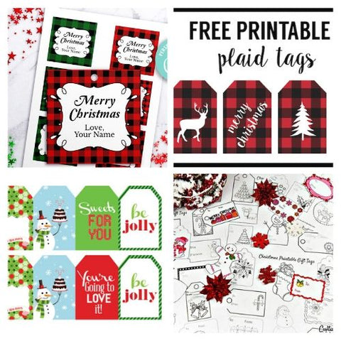 24 Christmas Gift Tags Printables- If you want the perfect finishing touch for your holiday gift wrapping, you need to check out these printable Christmas tags! There are so many pretty DIY holiday tags to choose from! | #freePrintables #freePrintable #Christmas #giftTags #DigitalDownloadShop