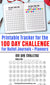 100 Day Challenge Printable Tracker- Use this 100 day challenge worksheet printable to take part in the creative 100 Day Project or to track your progress toward any other goal you set yourself! | bullet journal page, bujo printable, planner insert, #The100DayProject #goalTracker #DigitalDownloadShop