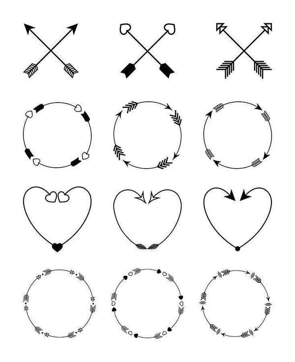 12 Arrow Arrangements Clipart - The Digital Download Shop
