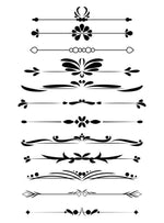 12 Decorative Dividers Clipart - The Digital Download Shop