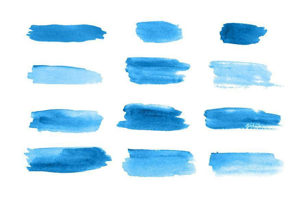 12 Watercolor Brush Strokes Clipart - The Digital Download Shop