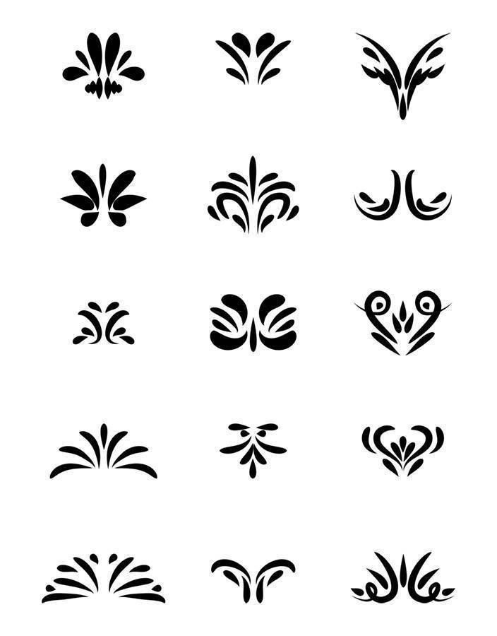 15 Decorative Corners Flourish Clipart | The Digital ...