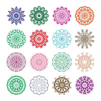 16 Mandalas Lace Doily Clipart - The Digital Download Shop
