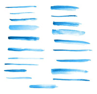 20 Blue Watercolor Brush Strokes Clipart - The Digital Download Shop