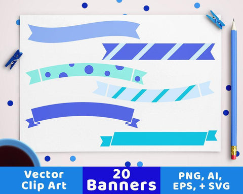20 Winter Banners Clipart - The Digital Download Shop