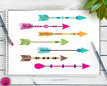 25 Colorful Arrows Clipart