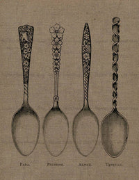 4 Spoons Vintage Image - The Digital Download Shop