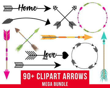 90+ Arrows Clipart Mega Bundle