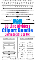 90 digital divider vector clipart images (including many hand drawn graphics) for personal and commercial use!