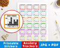 Anxiety Tracker Printable Planner Stickers