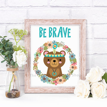 Be Brave Bear Nursery Printable