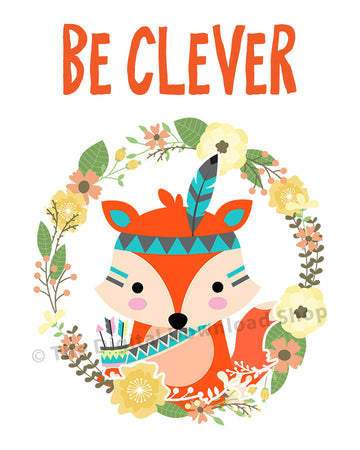 Be Clever Fox Nursery Printable