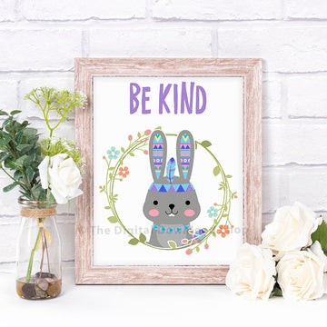 Be Kind Rabbit Nursery Printable