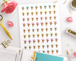 Happy Mail / Got Mail Printable Planner Stickers- Benny Bear- The Digital Download Shop