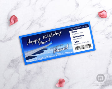 Plane Boarding Pass Printable- Photo *EDIT ONLINE*