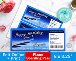 Plane Boarding Pass Printable- Photo