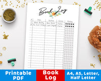 Reading Log Reading Tracker Printable