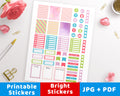 Bright Printable Planner Stickers