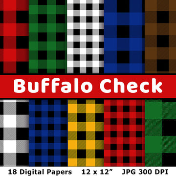 Buffalo Check Digital Paper