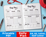 Bullet Journal Printable Daily Plan