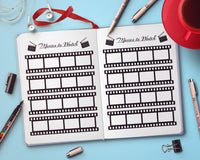 Bullet Journal Movies to Watch Planner Printable