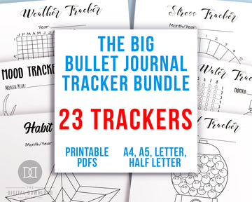 Bullet Journal Tracker Template Printable Bundle