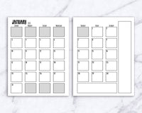 2021 Bullet Journal Starter Kit Printable Bundle