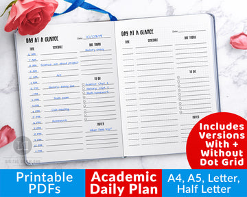 Academic Daily Planner Printable
