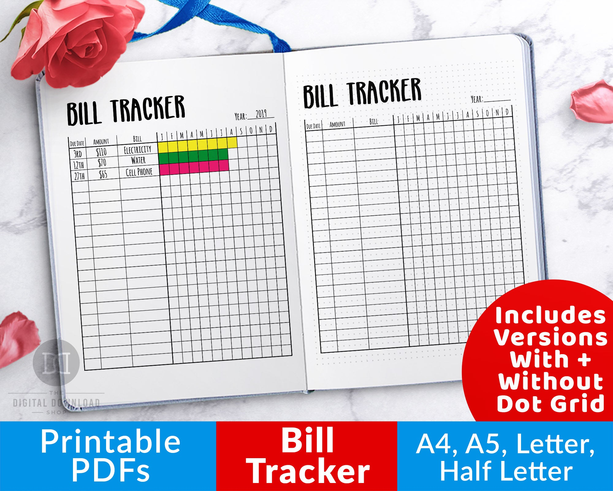 photograph about Printable Bill referred to as Bullet Magazine Monthly bill Tracker Printable