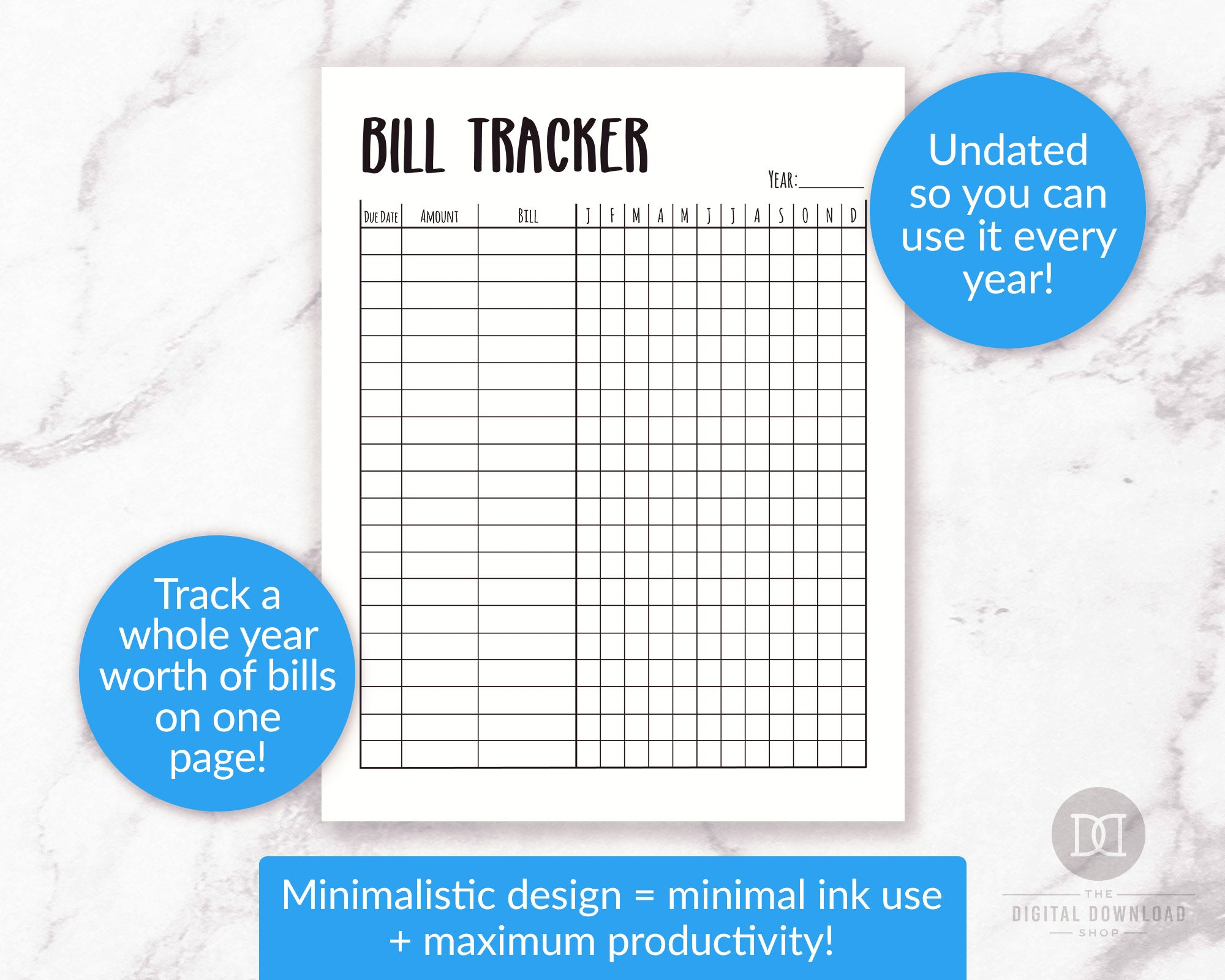 This is a picture of Free Printable Bill Tracker intended for excel