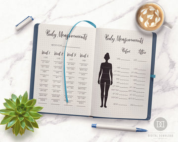 2 Body Measurement Tracker Printables