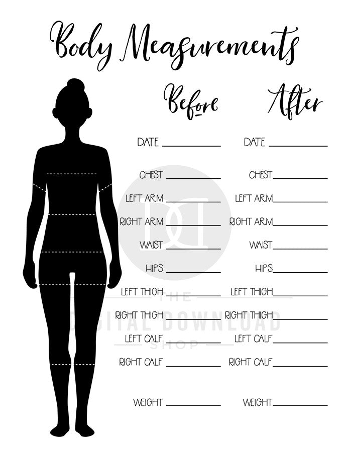 2 Body Measurement Tracker Printables | The Digital ...